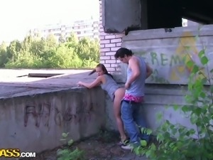Super horny chick gets brutally fucked by two horny men