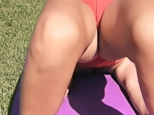 Big Ass Blonde Teen Has Big Cameltoe n Perky Tits Outdoor