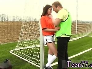 Mature lesbian seduces teen girl Dutch football player torn