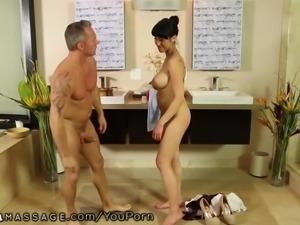 Nuru Massage Asian Slips and Slides on Client
