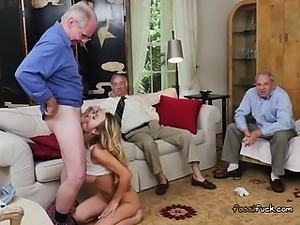 Young Slut Molly Mae Blows Old Mans Big Cock