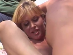 Cuckold hubby has no other choice but to watch his wife have threesome