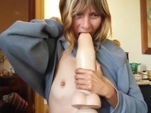 Wife licks my anal dildo