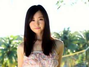 Adorable Asian girl Yumi Ishikawa looks like a princess