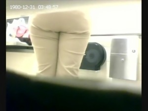 Thick Ass Bathroom Spy On Ebony