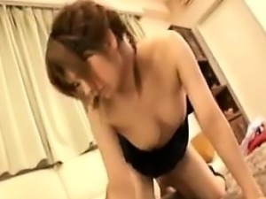 Beautiful Japanese nympho loves to suck cock and to get pou