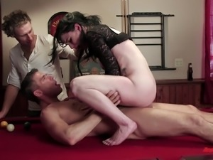 She enjoys giving the big cock a blowjob not suspecting that her pussy is the...