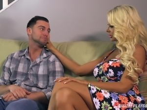 Married blonde goddess satisfied by a stud with a big dick