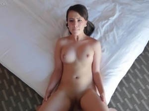 Beautiful BJ for his thick cock excites the girl for fucking