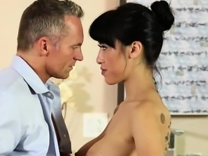 Asian and slutty Jayden Lee gets hammered by her boss Marcus