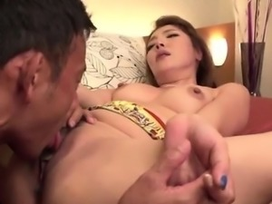 Strong cock for sleazy Japanese milf, Chieri Matsunaga