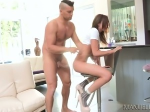 Charming redhead girl Ariana Marie is poked well by a hot dude
