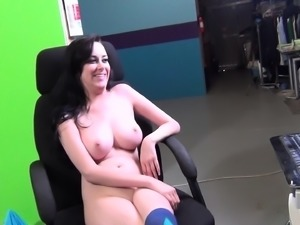 Busty babe Heather gets licked and dicked, takes a break and blows him