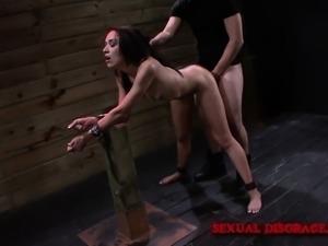 Sexy slim bondage fetishist Ava Kelly loves to take it rough and deep