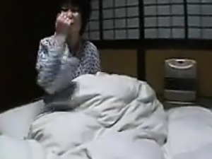 Petite Japanese girl with tiny tits unleashes her hot lesbi
