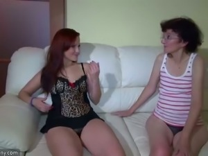 Skinny lesbian wrinkled grannies fucking with amazing sweet girls