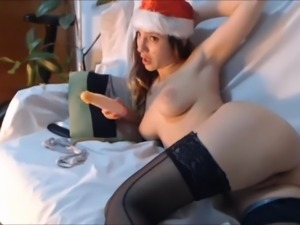 Horny Teen Fucking Her Asshole With Dildo