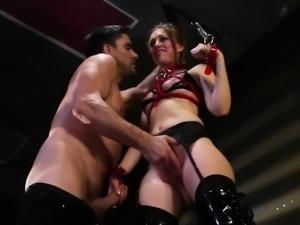 Tiedup submissive fingerfucked hard