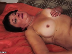 Teen with massive tits enjoying great masturbation session