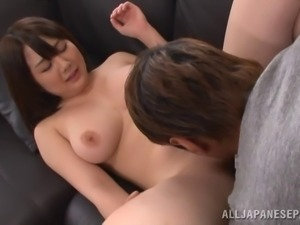 Chubby Asian damsel with big tits getting her hairy pussy banged hardcore