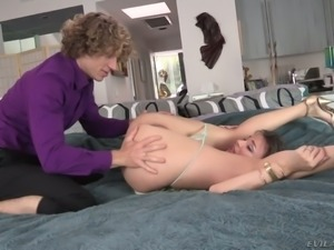 Dominant MILF Dana DeArmond makes this young man go down on her