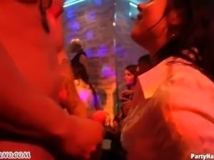 Wild Fucking during night discos