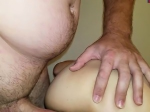 Small Dick man ejaculating inside pussy honeydew