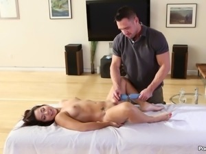 Adrenalized stud grabs that ass as he shoves his lenghty throbber in the...