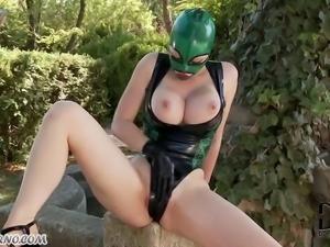 Mature servant dressed for BDSM
