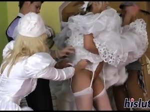 Hardcore orgy session with ravishing brides