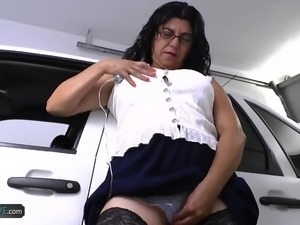 AgedLovE Mature Latina Lucia Toys and Hardcore