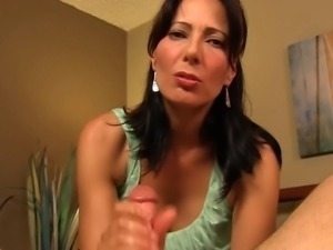Zoey Holloway - Mom Catches Son Spying On Her While Changing, Gives Son Handjob