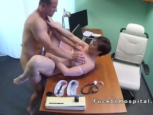 Doctor hard fucks and records his patient