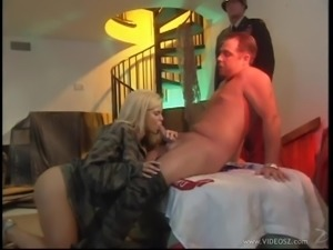 Busty blonde with big natural tits enjoys getting hammered hardcore
