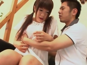 Jizz-eating cutie from Japan is ready for the cock sucking session