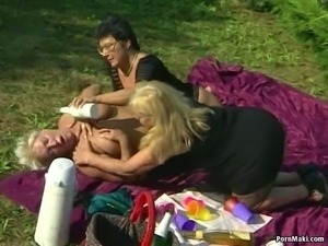 Granny Lesbians Having Fun Outdoor