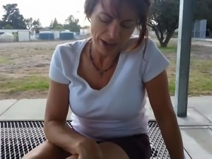 sweaty mature feet & toes