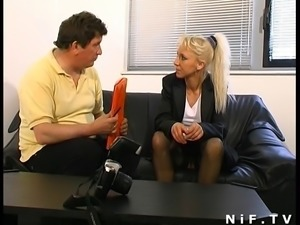French mature gets her ass pounded