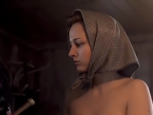 Leelee Sobieski Nude Boobs In Uprising Series