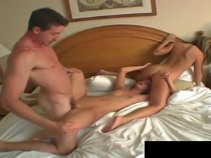 Skinny chicks getting the cock that they wanted in the hotel room