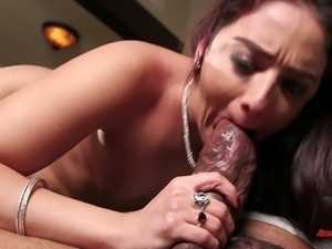 Horny European filth Shane Diesel blows thick black sausage with passion