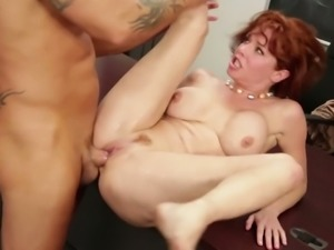 Red haired teacher Veronica Avluv is fucking her student right on the table