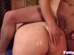 Bigass fatty plumper banged doggystyle