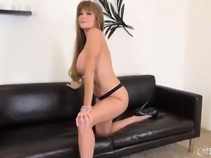 Busty Pornstar MILF Darla Crane Solo Masturbating