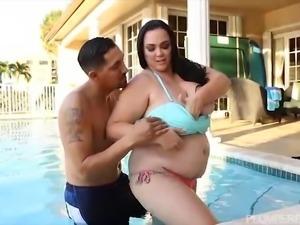 Curvy Milf Charlotte Angel Fucks In Hot Pool