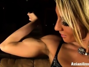 Abby shows off her sexy hard body in movie theater