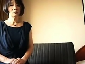 Naughty Asian lady rubs her snatch and sucks every inch of