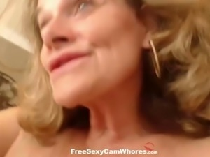 This busty granny just refuses to age and she is still jack worthy