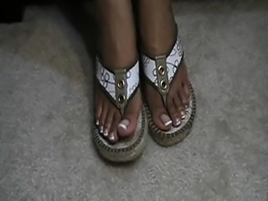 Sunless french trace gold sandals