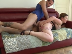 Chubby Lilou Sou seduced by a hot guy who needs her nice curves